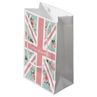 バラの英国国旗の英国の花のパーティー スモールペーパーバッグ