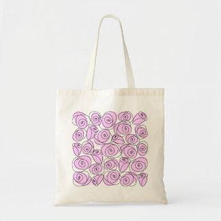 バラの薄紫の正方形のトートバック トートバッグ