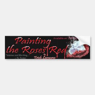 バラの赤いバンパーステッカーを絵を描くこと バンパーステッカー