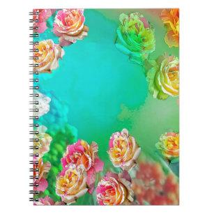 バラはそれを取らないでメッセージを持って来ます ノートブック