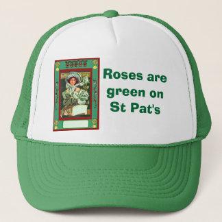 バラはSt Patで緑です キャップ