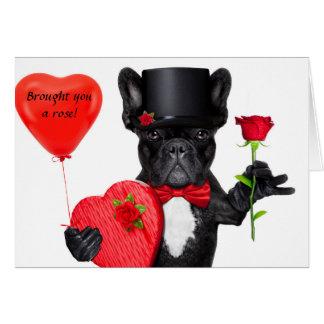 バラを持って来られる グリーティングカード