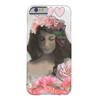 バラを持つ女性 BARELY THERE iPhone 6 ケース