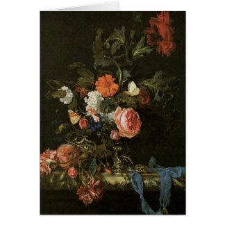 バラを持つ花のファインアート カード