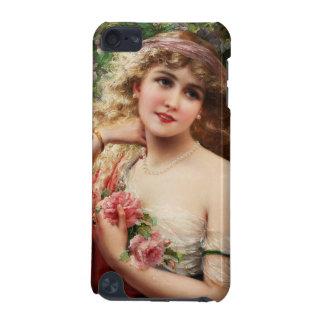 バラを持つ若い女性 iPod TOUCH 5G ケース