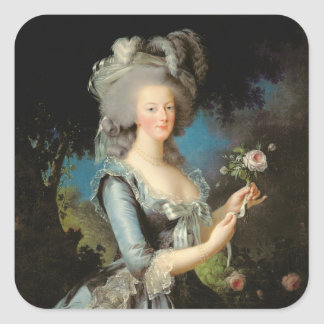 バラを持つMarieアントワネット、1783年 スクエアシール