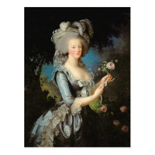 バラを持つMarieアントワネット、1783年 ポストカード