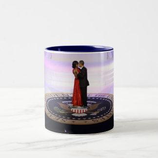 バラクおよびミシェールオバマ ツートーンマグカップ
