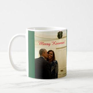 バラクおよびミシェールメリーなKissmas -マグ コーヒーマグカップ