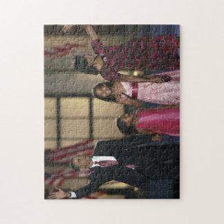 バラクオバマ家族の波 ジグソーパズル