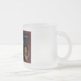 バラクミシェールのオバマによって曇らされるマグ フロストグラスマグカップ