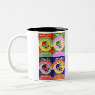 バラク08の破裂音芸術のマグ ツートーンマグカップ