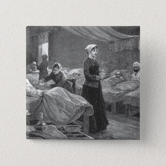 バラックの病院の失敗のナイチンゲール 5.1CM 正方形バッジ