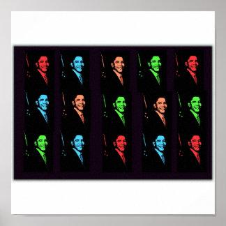 バラック・オバマのコラージュ ポスター