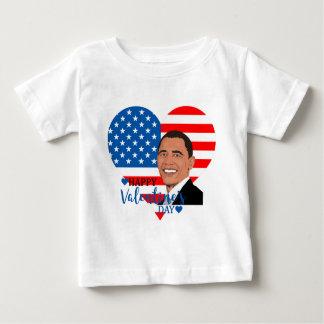 バラック・オバマのバレンタイン ベビーTシャツ
