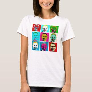 バラック・オバマのポップアートのTシャツ Tシャツ