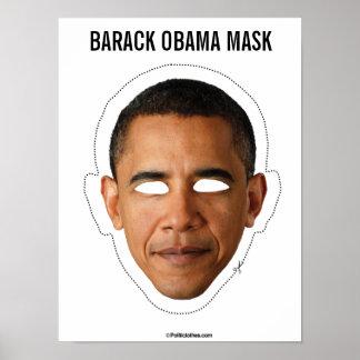 バラック・オバマのマスクの切り出し ポスター