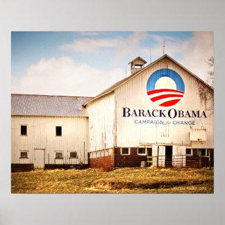 バラック・オバマの大統領のなキャンペーン納屋 ポスター