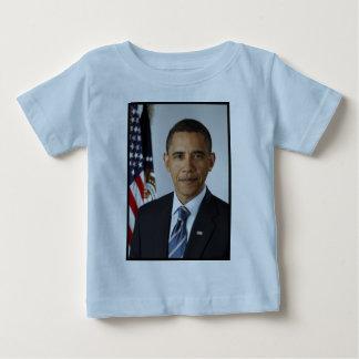バラック・オバマの大統領のなポートレート ベビーTシャツ