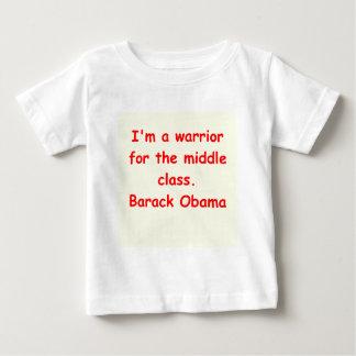 バラック・オバマの引用文 ベビーTシャツ