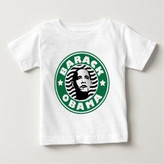 バラック・オバマの星のカフェイン ベビーTシャツ