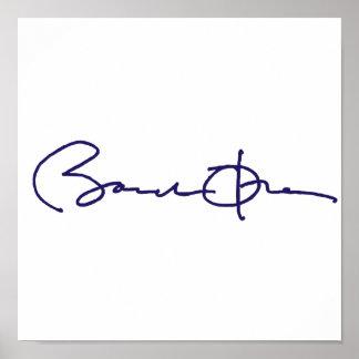バラック・オバマの署名 ポスター