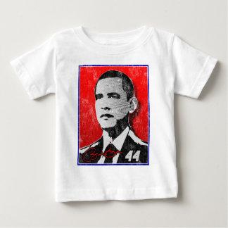 バラック・オバマの赤のポートレート ベビーTシャツ