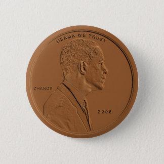 バラック・オバマの青銅色のペニーの回状ボタン 缶バッジ