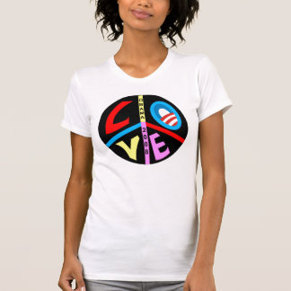 バラック・オバマの60年代のヒッピーの能なしのスタイル Tシャツ