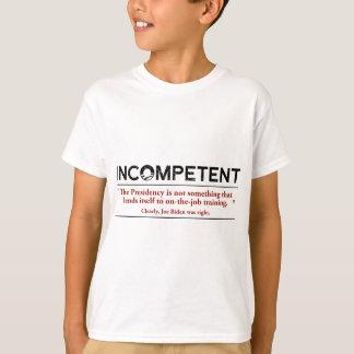 バラック・オバマは無能です Tシャツ