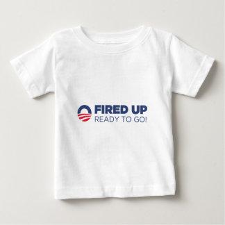バラック・オバマは行くこと準備ができた始動させました ベビーTシャツ