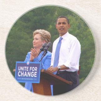 バラック・オバマ及びヒラリー・クリントン大統領 コースター