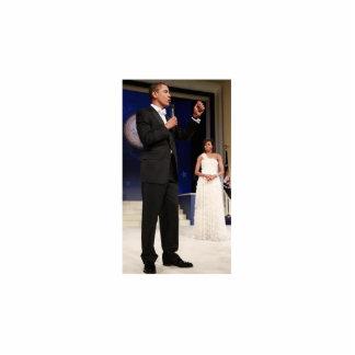 バラック・オバマ及びミシェール大統領 写真彫刻(台付き)