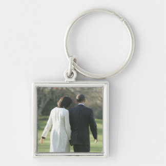 バラック・オバマ大統領およびミシェール最初女性 キーホルダー