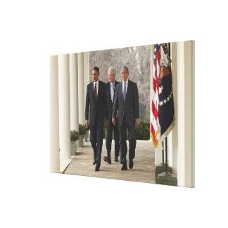 バラック・オバマ大統領および前大統領 キャンバスプリント