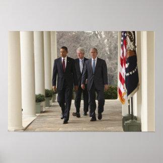 バラック・オバマ大統領および前大統領 ポスター