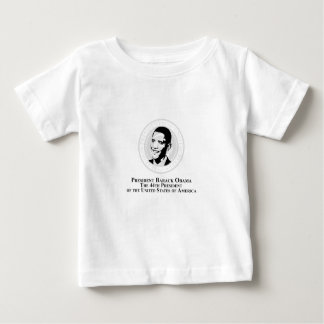 バラック・オバマ大統領のシール ベビーTシャツ
