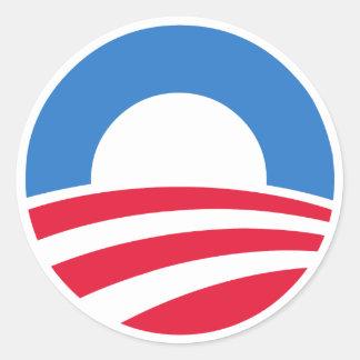 バラック・オバマ大統領のロゴのステッカー ラウンドシール