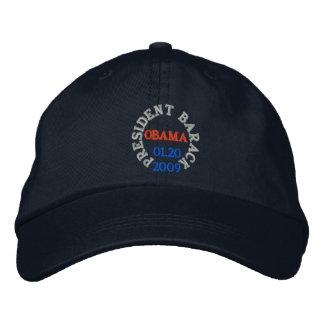 バラック・オバマ大統領の就任式の帽子 刺繍入りキャップ