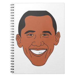 バラック・オバマ大統領の漫画の顔 ノートブック