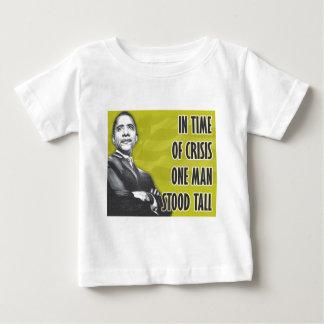 バラック・オバマ大統領の黄色 ベビーTシャツ