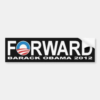 バラック・オバマ2012年「前方」バンパーステッカー バンパーステッカー