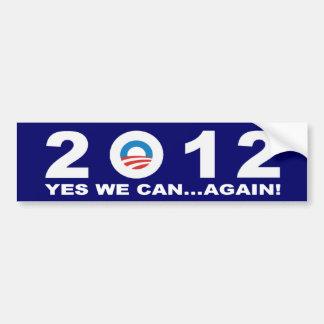 バラック・オバマ2012年- YES私達は…再度できます! バンパーステッカー