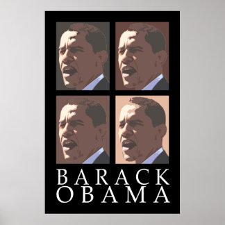 バラック・オバマ4のポートレートポスター ポスター