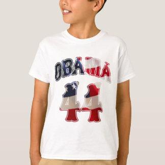 バラック・オバマ44の旗のTシャツ Tシャツ