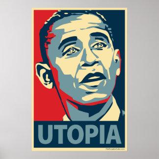 バラック・オバマ-ユートピア: OHPポスター ポスター