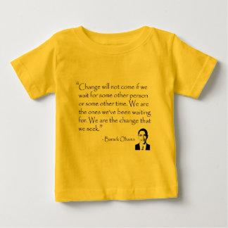 バラック・オバマ-商品を変えて下さい ベビーTシャツ