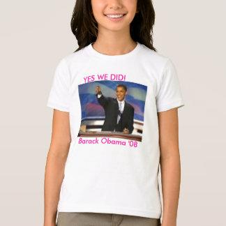 バラック・オバマ「08のYES私達は! Tシャツ