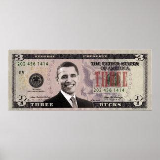 バラック・オバマ$3ビルポスター ポスター