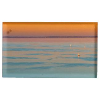 バラトン湖、ハンガリー上の日没 テーブルカードホルダー